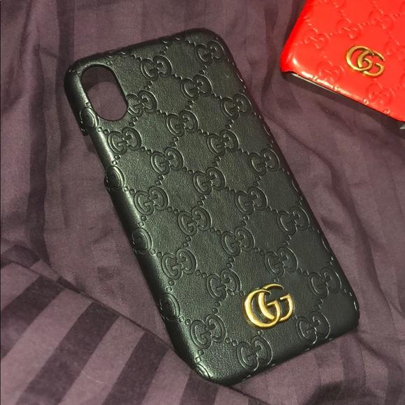 newest 5aced 2d52c Black gucci iphone x case